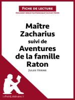 Maitre Zacharius suivi de Aventures de la famille Raton de Jules Verne (Fiche de lecture)