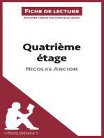 Quatrième étage de Nicolas Ancion (Fiche de lecture)