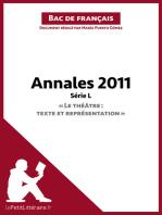 """Annales 2011 Série L """"Le théâtre"""