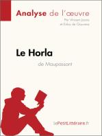 Le Horla de Guy de Maupassant (Analyse de l'oeuvre)