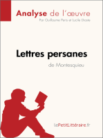 Lettres persanes de Montesquieu (Analyse de l'oeuvre)