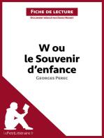 W ou le Souvenir d'enfance de Georges Perec (Fiche de lecture)