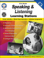 Speaking and Listening Learning Stations, Grades 6 - 8