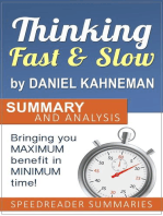 Thinking Fast and Slow by Daniel Kahneman: Summary and Analysis