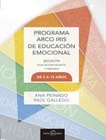 Programa Arco Iris de Educación Emocional: Educación infantil y primaria de 3-12 años