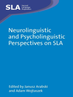 Neurolinguistic and Psycholinguistic Perspectives on SLA