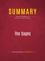 Summary: The Sages: Review and Analysis of Charles R. Morris's Book