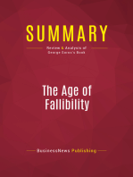 Summary: The Age of Fallibility: Review and Analysis of George Soros's Book