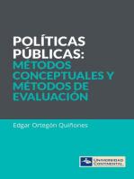 Políticas públicas. Métodos conceptuales y métodos de evaluación