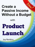 Create a Passive Income Without a Budget with Product Launch