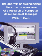 The Analysis of Psychological Literature on a Problem of a Research of Computer Dependence at Teenages