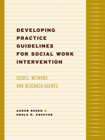 Developing Practice Guidelines for Social Work Intervention