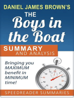 A Summary and Analysis of The Boys in the Boat by Daniel James Brown