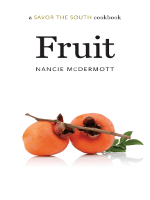 Fruit: a Savor the South® cookbook