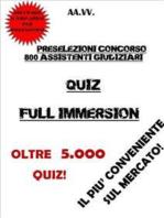 Preselezioni Concorso 800 ASSISTENTI GIUDIZIARI QUIZ FULL IMMERSION