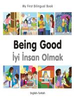 My First Bilingual Book–Being Good (English–Turkish)