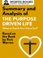 Summary and Analysis of The Purpose Driven Life