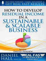 How to Develop Residual Income in a Sustainable & Scalable Business