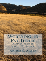 Worrying To Pay Tithes