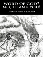 Word of God? No, Thank You!
