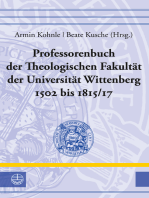 Professorenbuch der Theologischen Fakultät der Universität Wittenberg 1502 bis 1815/17