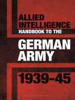 Allied Intelligence Handbook to the German Army 1939–45