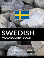 Swedish Vocabulary Book