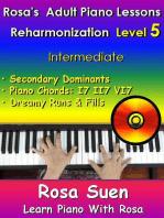 Rosa's Adult Piano Lessons - Reharmonization Level 5 - Intermediate
