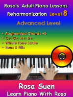 Rosa's Adult Piano Lessons Reharmonization Level 8 Advanced Level - • Augmented Chord Substitution +5 & Whole Tone Scale: Learn Piano With Rosa