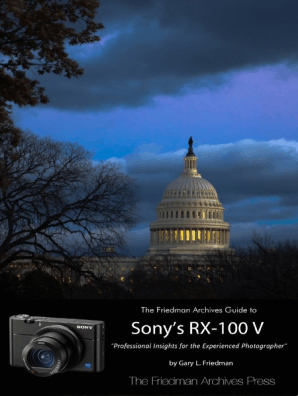 The Friedman Archives Guide to Sony's Rx-100 V by Gary Friedman - Read  Online