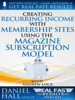 Creating Recurring Income with Membership Sites Using the Magazine Subscription Model