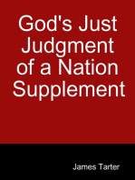 God's Just Judgment of a Nation Supplement