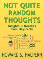 Not Quite Random Thoughts, Insights & Needles from Haystacks