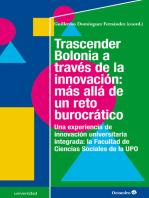 Trascender Bolonia a través de la innovación
