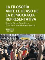 La filosofía ante el ocaso de la democracia representativa: Pluralismo, consenso, autoritarismo
