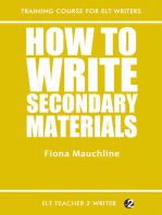 How To Write Secondary Materials