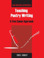 Teaching Poetry Writing
