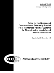 ACI 440.7R-10 Guide for Design and Construction of Externally Bonded FRP Systems for Strengthening Unreinforced Masonry Structures