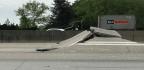 Atlanta Highway Buckles Dramatically, Injuring A Motorcyclist
