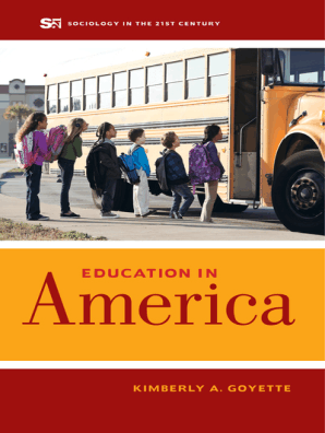 Education in America by Kimberly A  Goyette - Book - Read Online