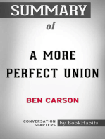Summary of A More Perfect Union