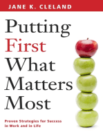 Putting First What Matters Most