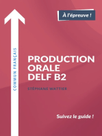 Production orale DELF B2