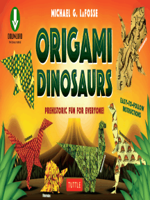 picture regarding Printable Origami Papers referred to as Origami Dinosaur through Michael G. LaFosse - Ebook - Study On the internet