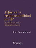 ¿Qué es la responsabilidad civil?: Fundamentos de la disciplina de los hechos  ilícitos y del incumplimiento contractual