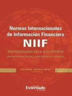 Normas Internacionales de Información Financiera (NIIF): Responsabilidad de la alta gerencia. Consideraciones básicas y experiencias en la adopción