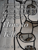 Comments on Tomas Bogardus and Mallorie Urban's Essay (2017) How to Tell...