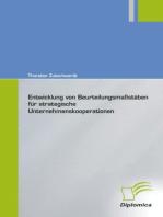 Entwicklung von Beurteilungsmassstäben für strategische Unternehmenskooperationen