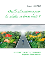 Quelle alimentation pour l'adulte en bonne santé ?