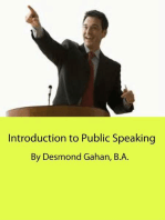 Introduction to Public Speaking
